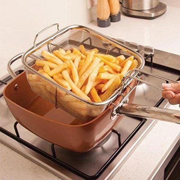 Сковорода фритюрница пароварка UNIQUE 24 см сковородка