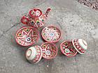 Узбекский чайный сервиз Риштан из 7 предметов. Красивый чайный сервиз., фото 4