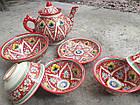Узбекский чайный сервиз Риштан из 7 предметов. Красивый чайный сервиз., фото 3