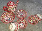 Узбецький чайний сервіз Риштан з 7 предметів. Гарний чайний сервіз., фото 2