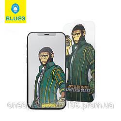 Защитное стекло 2.5D 0,26mm BLUEO 2.5D Full Cover Matte для iPhone 12pro Max black