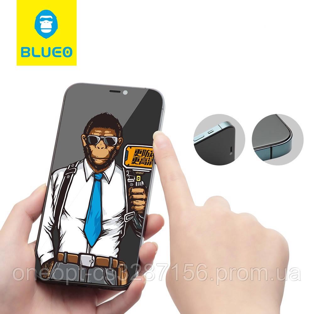 Защитное стекло 2.5D 0,26mm BLUEO 2.5D Full Cover Anti-Spy для iPhone 12/12 pro Black