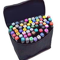 Набор скетч маркеров Touchnew 80 цветов для рисования Фломастеры двухсторонние тач Sketchmarker Touch Art