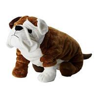 KLUMPIG Мягкая игрушка, собака коричневый, белый