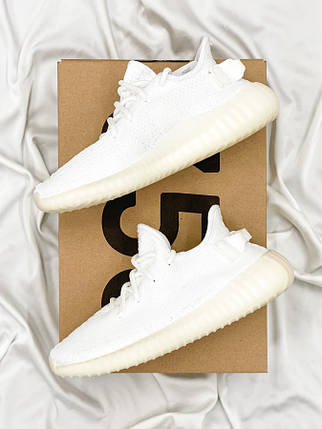 Женские кроссовки Adidas Yeezy Boost 350 Cream White, фото 2