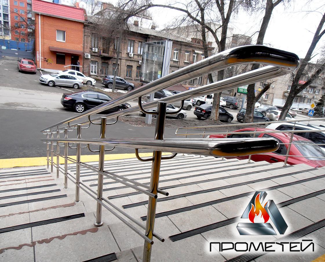 Разделители потока на ступени для крыльца из нержавейки от производителя в Бобровице Черниговской области