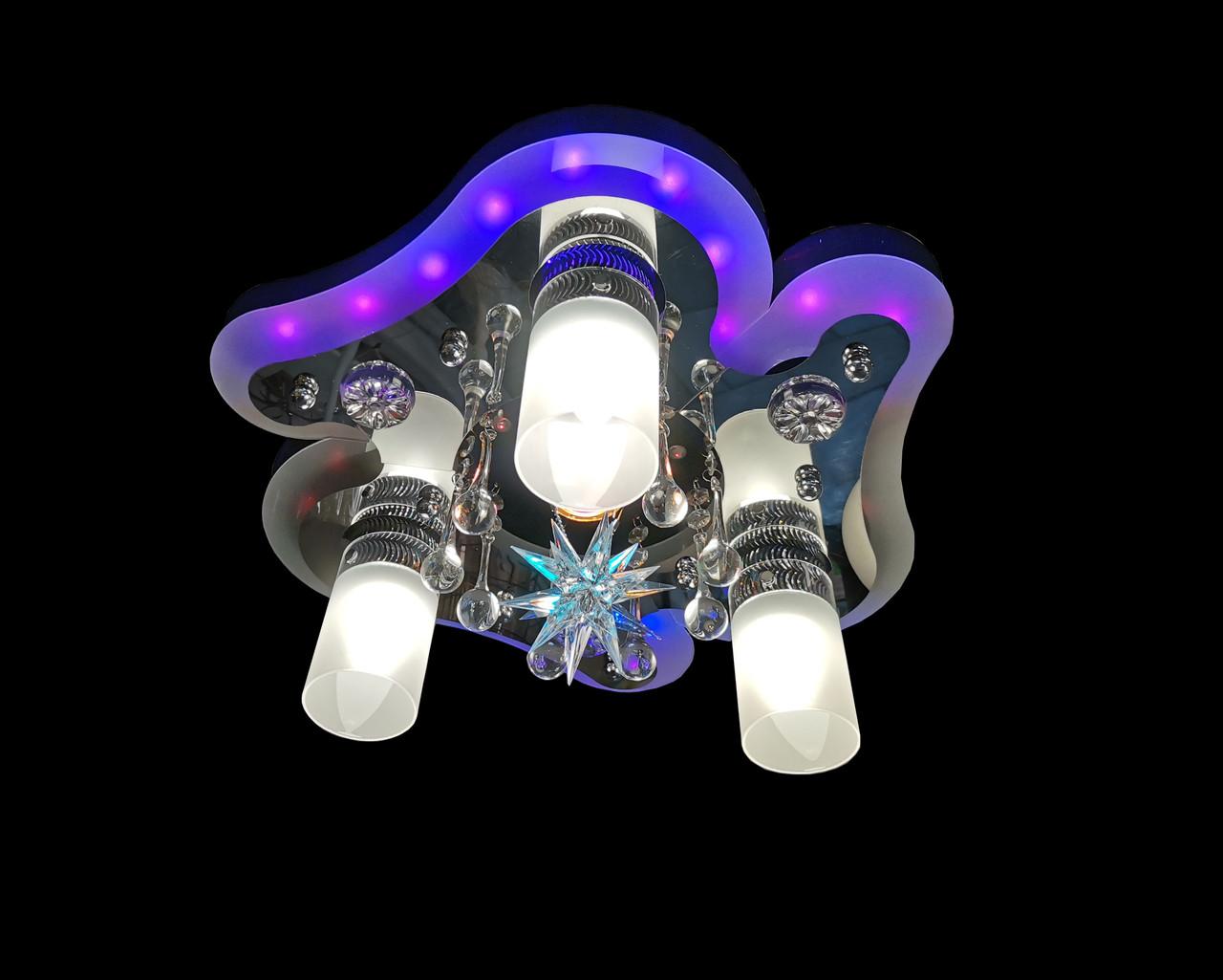 Люстра з LED підсвічуванням 82002/3+1