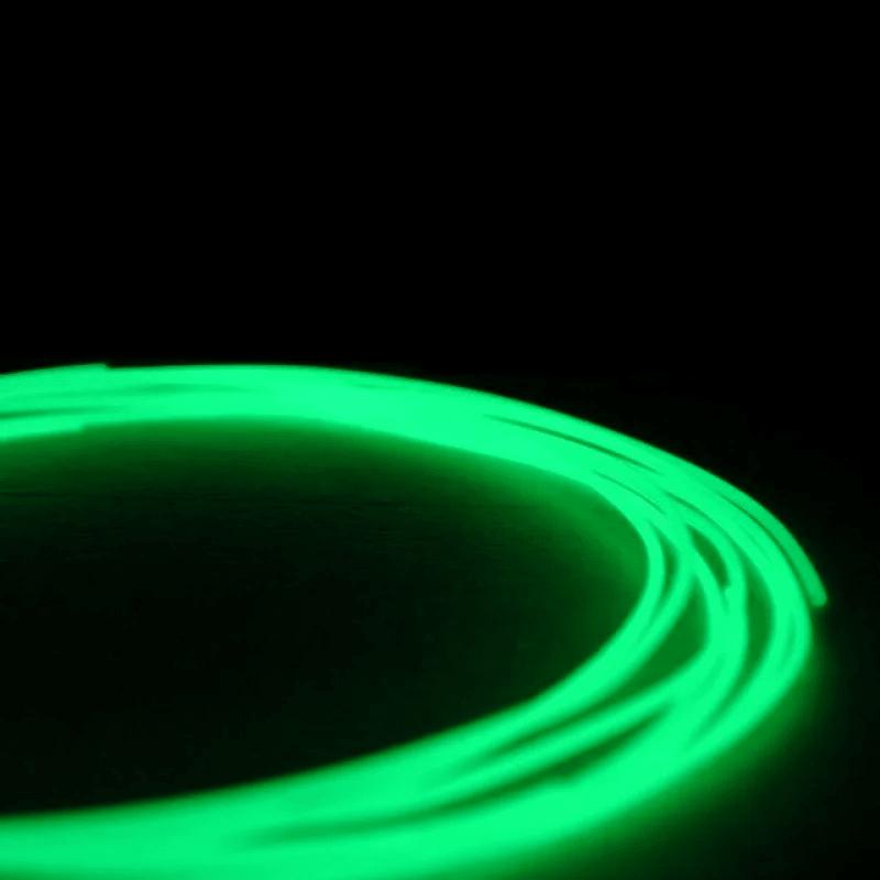 Пластик для 3D-принтера 1кг PLA  (3d-ручки) 1.75мм/1кг (330м) Светящийся HQ (Зеленый) HQ166