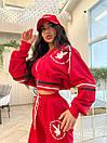 Женский спортивный костюм с логотипом Красный M, фото 5