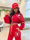 Женский спортивный костюм с логотипом Красный M, фото 4