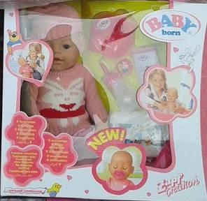 "Кукла-пупс Беби Борн ""Baby Born"", (Вaby Born-копия) зима кролик, 8001-7, 9 функций, фото 2"