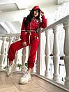 Женский спортивный костюм с логотипом Красный M, фото 2