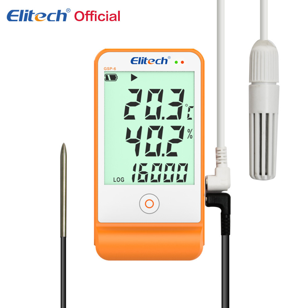 Регистратор температуры и влажности Elitech GSP-6 (Великобритания) с выносным датчиком, памятью 16 000, ПО