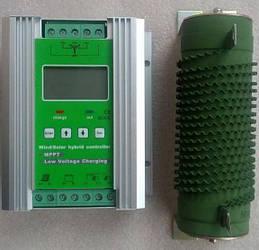 Гибридный контроллер MPPT (ветер+солнце)  12/24 В 1200 Вт (600 Вт ветряной, 600 Ватт солнечной зарядки)