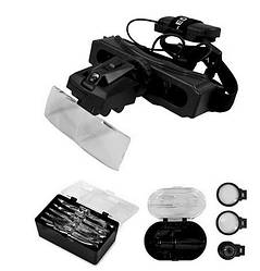 Лупа налобні бінокулярна Magnifier MG9892E (1,0-28,0 Х) з підсвічуванням