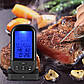 Бездротовий термометр (до 30 м) з щупом для приготування їжі YB414-SZ Black (0 до +250 °С) З ф-їй Будильник, фото 2