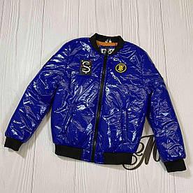 Куртка бомпер для мальчика Джек демисезонная электрик 122