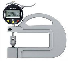 Електронний товщиномір Shahe 0-10 мм/0,001 (5335-10) з роликом для безперервного вимірювання