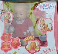 Кукла Пупс (Вaby Born-копия) 8001 лето в красном