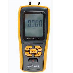 Цифровой дифференциальный манометр Benetech GM511 (0.01/10 кПа) USB интерфейс, МАХ давление 50 кПа, АТС