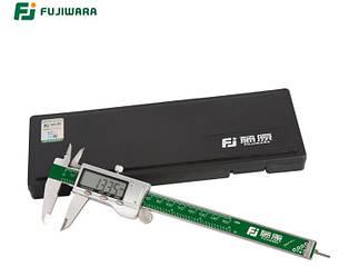 Штангенциркуль електронний FUJIWARA FUJ-KC-003 металевий D - 150 мм, точність 0,01 мм, з бігунком. Японія