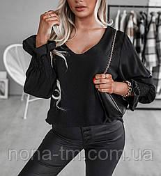 Модна блузка жіноча вільна з довгим рукавом