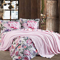 Набор постельного белья с пледом Dantela vita VIOLET PEMBE, фото 1