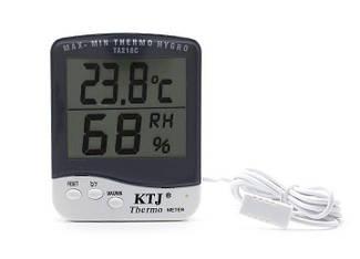 Термогігрометр KTJ Thermo TA218C (0°C ~ 50°C; 10% ~ 98%) з виносним датчиком температури та вологості