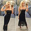 Платье с открытым плечами и двойной юбкой макраме (разные цвета), фото 8