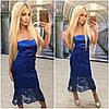 Платье с открытым плечами и двойной юбкой макраме (разные цвета), фото 10
