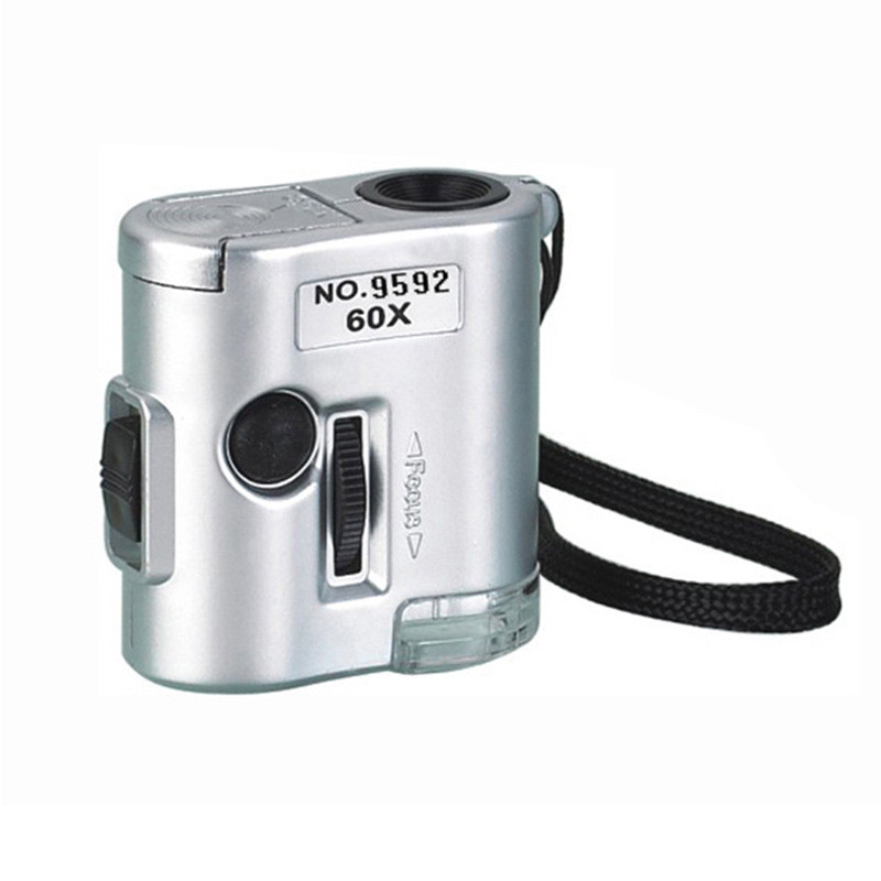 Кишеньковий мікроскоп MG 9592 60X з LED і ультрафіолетової підсвічуванням