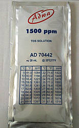 Калибровочный раствор ADWA AD70442 для TDS-метров 1500 mg/l ( ppm ). Венгрия. 20 ml