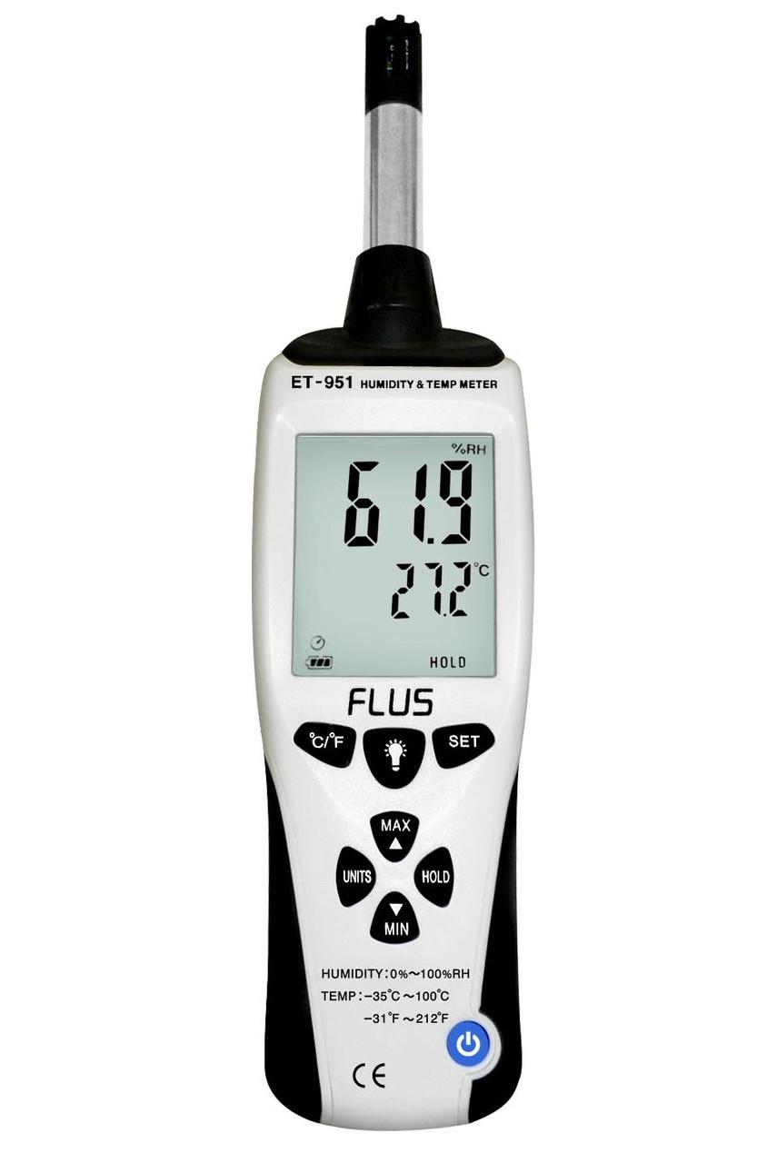 Профессиональный термо-гигрометр Flus ET-951 (0-100%; от -35℃ до + 100℃) DEW
