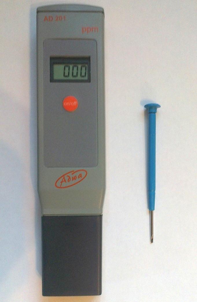 Вологозахищений ТДС-метр Adwa AD202 (0,00 - 10,00 ppt) з АТС (Угорщина)
