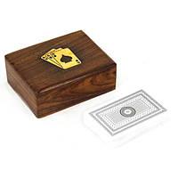 Карты  в деревянной коробке