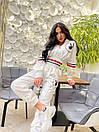 Спортивний костюм жіночий з логотипом Білий, фото 2