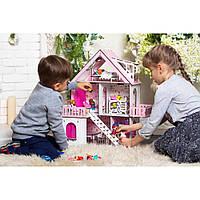 Ляльковий будиночок Сонячна Дача + шпалери + меблі + текстиль 2102 Fana