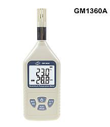 Термогігрометр Benetech GM1360A (Т: від -30 °С до 80 °С: RH:від 0 % до 100 %), USB-інтерфейс, точка роси