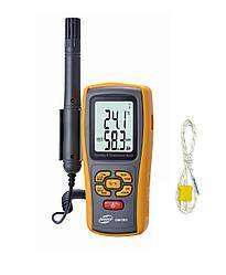 Термо-гігрометр Benetech GM1361 (0-100%; -10℃ - 50℃; Термопара До-типу: -30℃ - 1000℃) DW, Wet