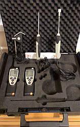 Комплект термогігрометр Testo 625 і термометр з 3 змінними зондами Testo 922 (-50...+1 000 °C) в Кейсі.