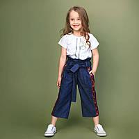 Кюлоты из тонкого джинса для девочки тм Моне р-ры 110