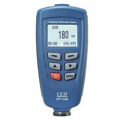 Товщиномір лакофарбових покриттів CEM DT-156 Fe/NFe (0-1250 мкм), Пам'ять 320 вимірювань, ПО. У Кейсі