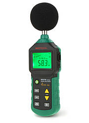 Шумомер Mastech MS6700 (30-130 dB) в пыле и влагозащищённом прорезиненном корпусе
