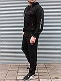Спортивный костюм мужской  чёрный большого размера Сл 1993, фото 2