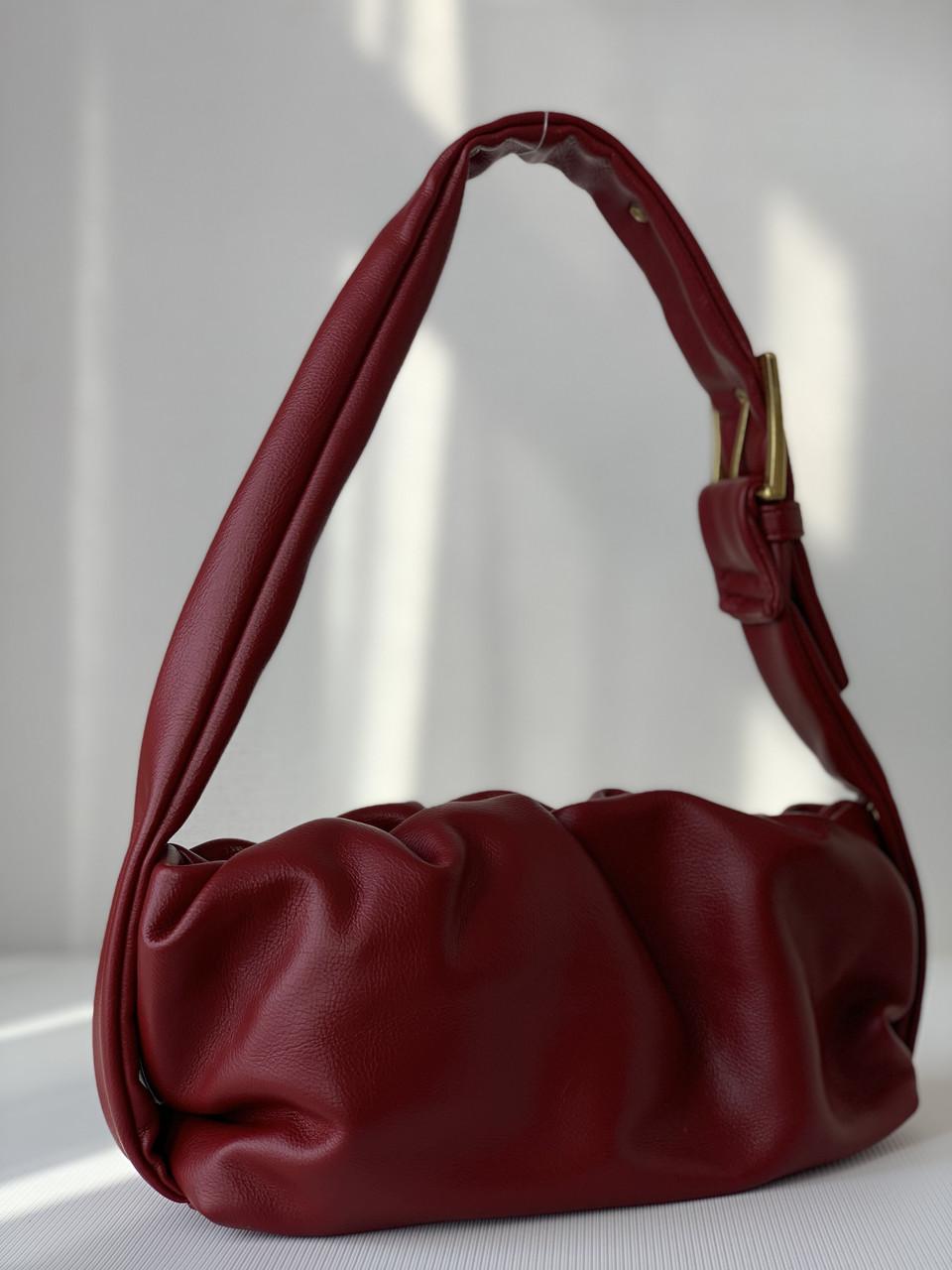 Бордовая женская маленькая сумочка