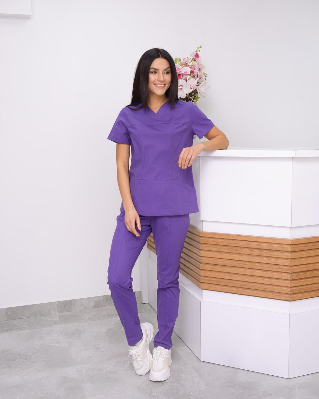 Женский медицинский костюм Avicenna Premium фиолет лавандовый