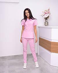 Жіночий медичний костюм Avicenna Premium рожевий