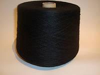 Пряжа полушерстяная, цвет черный, вес 1.689