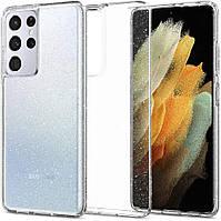 Чехол Spigen для Samsung Galaxy S21 Ultra - Glitter, Crystal Quartz (ACS02348)