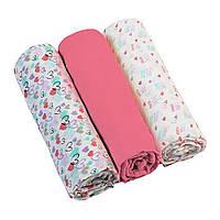 Пеленки муслиновые хлопчатобумажные 70х70 см розовые BabyOno 3 шт. (5901435407967)